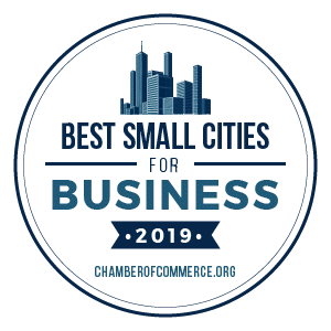 best small cities for business 2019 badge