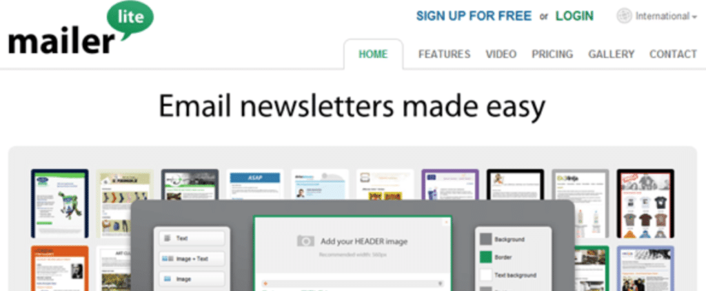 Mailerlite Email Marketing  Size Inches