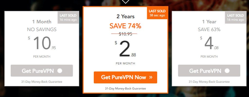 PureVPN - 1 pricing
