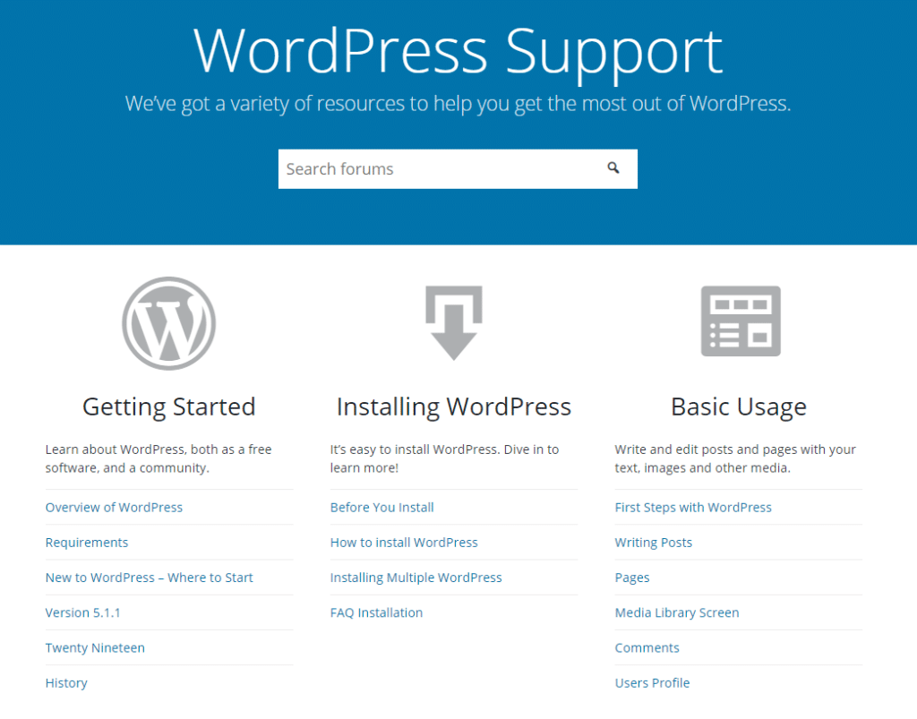 WordPress - 2 support