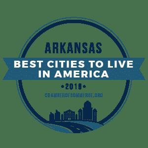 Best Cities To Live Arkansas 2019 badge