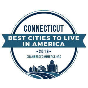 Best Cities To Live Connecticut 2019 badge