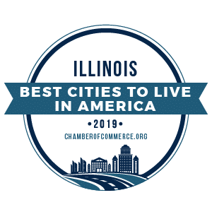 Best Cities To Live Illinois 2019 badge