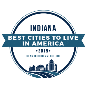 Best Cities To Live Indiana 2019 badge