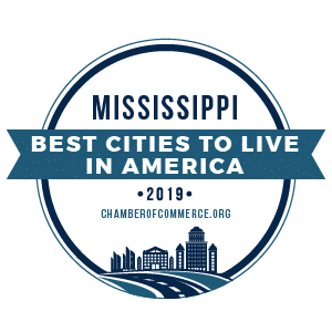 Best Cities To Live Mississippi 2019 badge