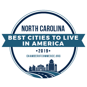 Best Cities To Live North Carolina 2019 badge