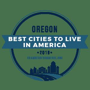 Best Cities To Live Oregon 2019 badge