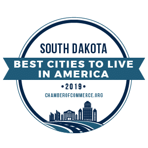 Best Cities To Live South Dakota 2019 badge