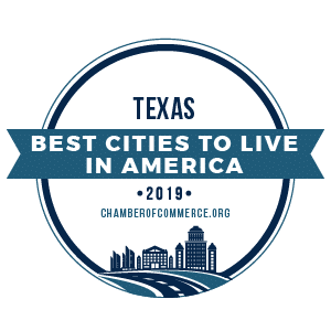 Best Cities To Live Texas 2019 badge