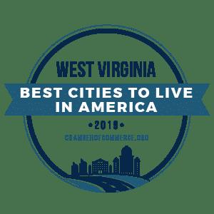 Best Cities To Live West Virginia 2019 badge